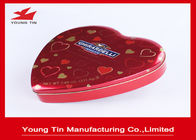 Chocolate Gifts Packaging Heart Shaped Tin Box , Full Color Printed Heart Shaped Tin Containers